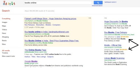 Ratings for Paid Search Results