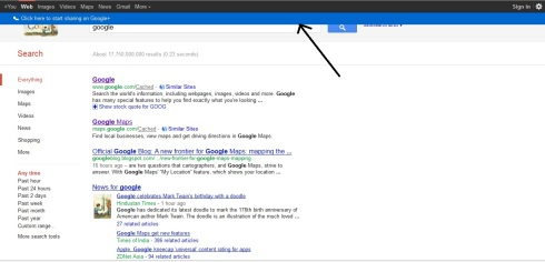 Google Search - Blue Strip