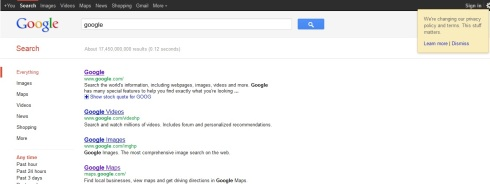 Google Privacy Policy Change